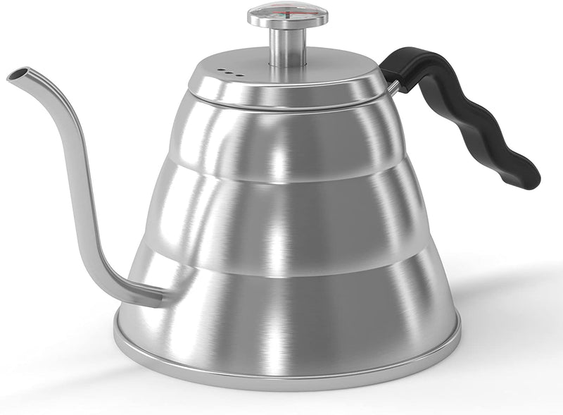 Coffee Gator Pour Over Kettle - With Gooseneck Spout and Thermometer