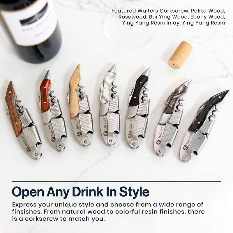 HiCoup – All-in-one Waiters Corkscrew, Bottle Opener and Foil Cutter, the Favoured Choice of Sommeliers, Waiters and Bartenders Around the World