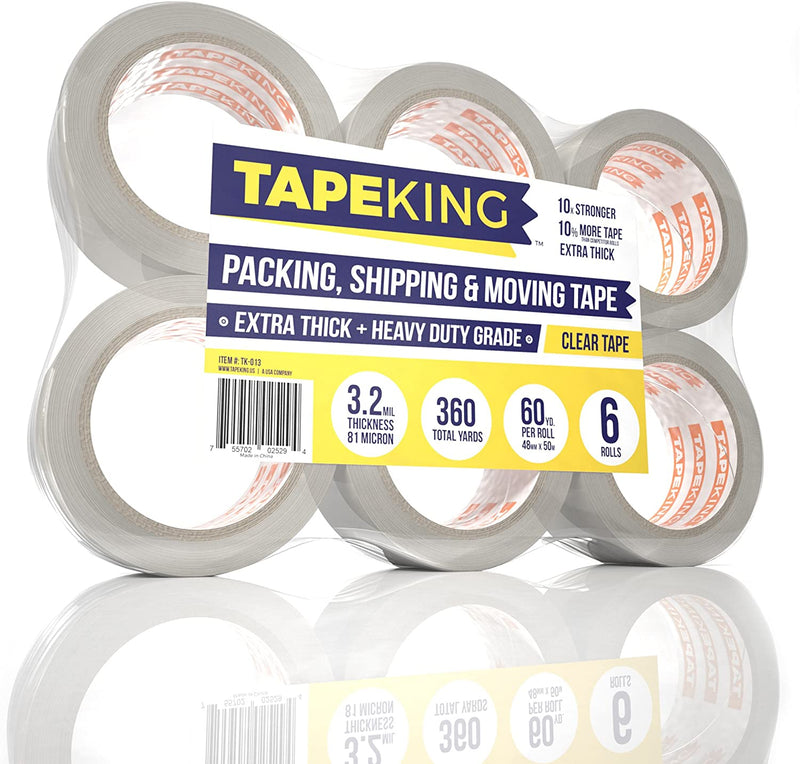 Tape King Clear Packing Tape 3.2 mil Thick