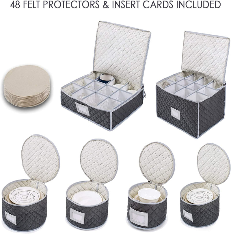 Woffit Set of 2 Cups & Glasses Storage Case