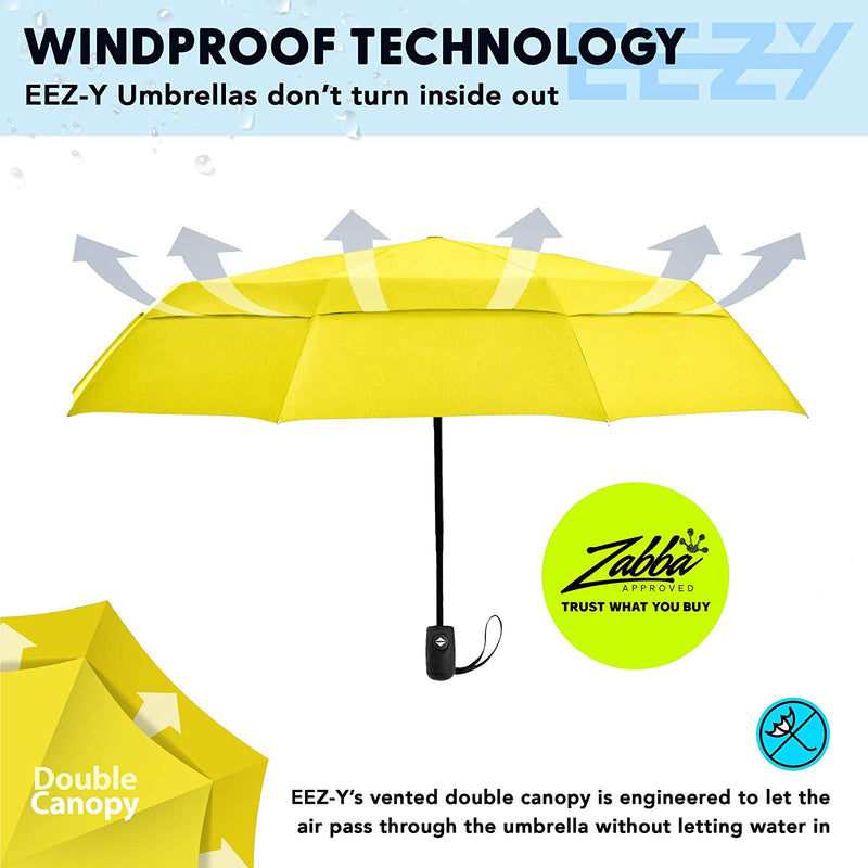 EEZ-Y Windproof Compact Double Vented Folding Umbrella