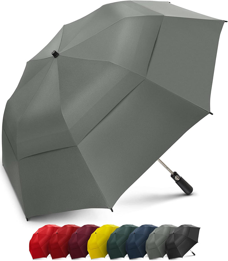 EEZ-Y 58 Inch Folding Golf Umbrella with Large Windproof Double Vented