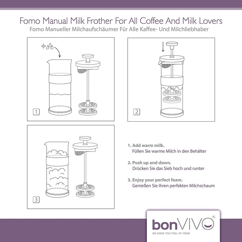 bonVIVO Fomo Glass Milk Frother