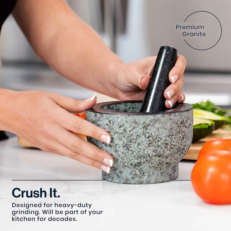 HiCoup Granite Mortar and Pestle