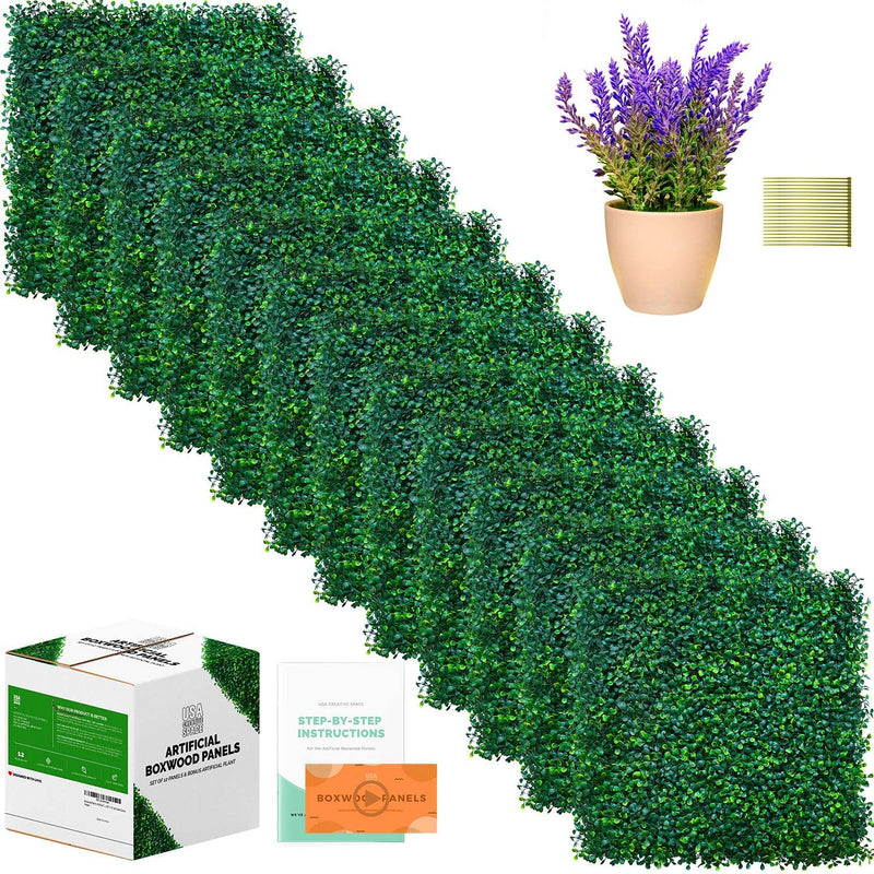Creative Space Artificial Boxwood Fence Panels