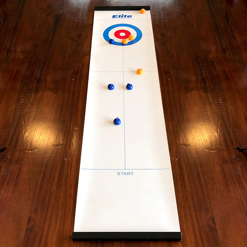 Elite Sportz Equipment Tabletop Curling Game & Tabletop Bowling Game