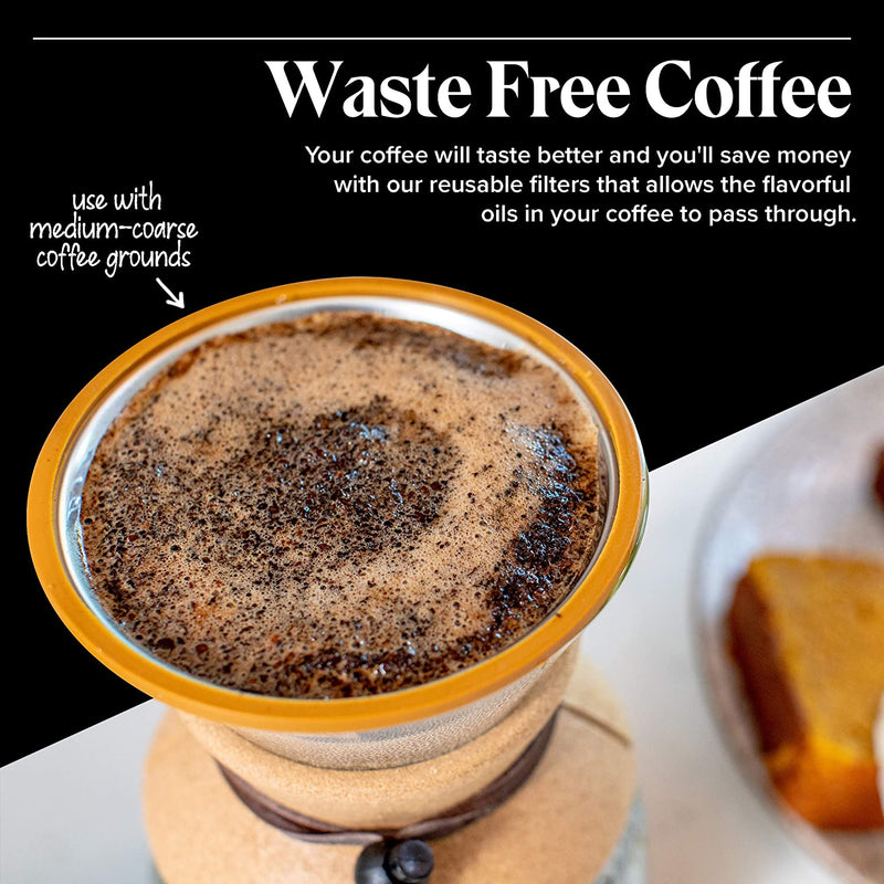 Pour Over Coffee Filter - Reusable Drip Coffee Filters - Paperless