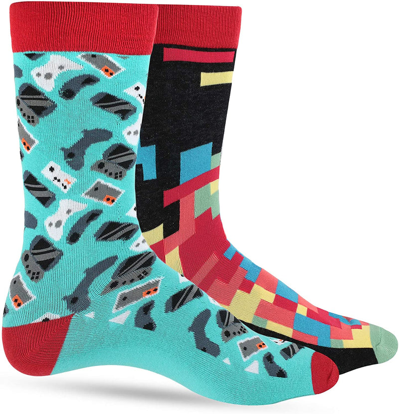 Fun Socks for Men - Cool Funny Novelty Design Gifts for Dad, Son, Husband - Breathable - 1 or 2 Pack