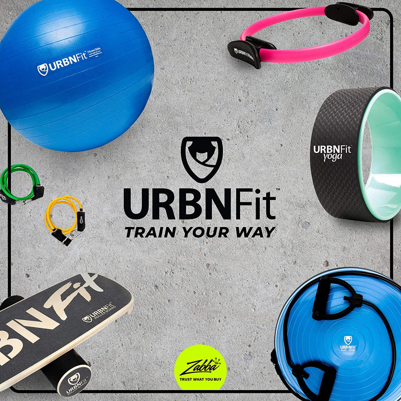 URBNFit Balance Trainer Stability Half Ball with Resistance Bands