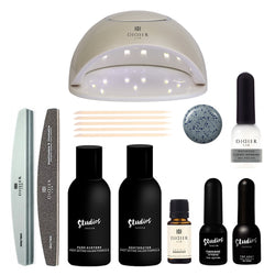 Gel polish manicure set CLOUDY MORNING avec lampe UV/LED pour débutant
