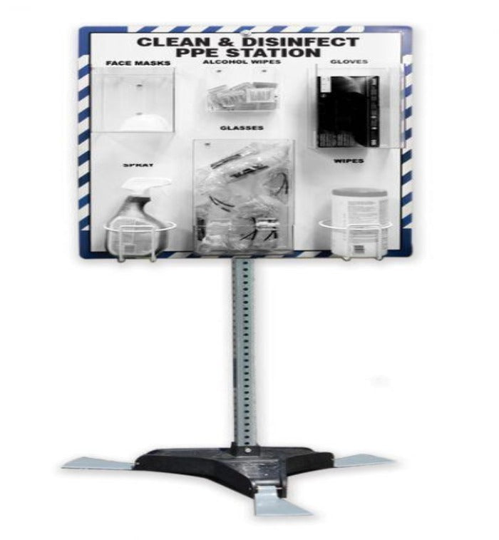Clean & Disinfect PPE Station - W/ Stand