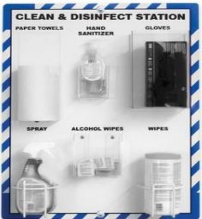 Workplace Hygiene Supply Station - Board Only