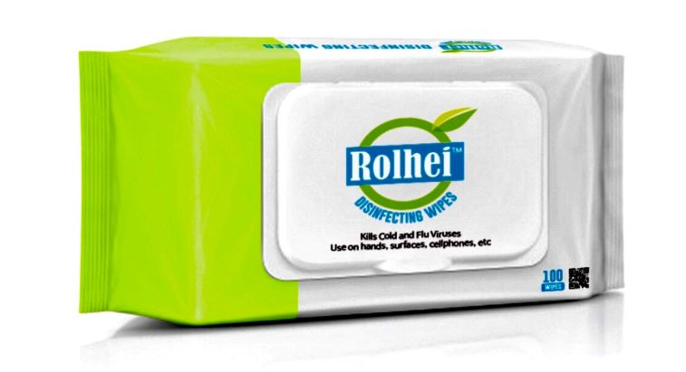 Rolhei – 75% Ethanol Wet Wipes (100 pcs/Pk) - 24 Packs per Case (Minimum)- Only $7.75 per Pack