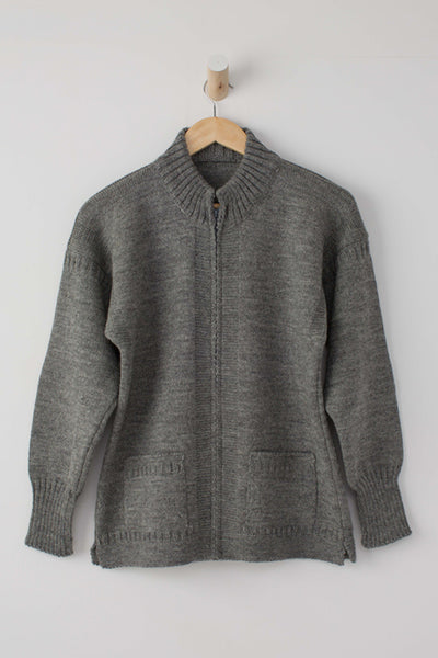 Men's Mid Grey Zipped Guernsey Jacket