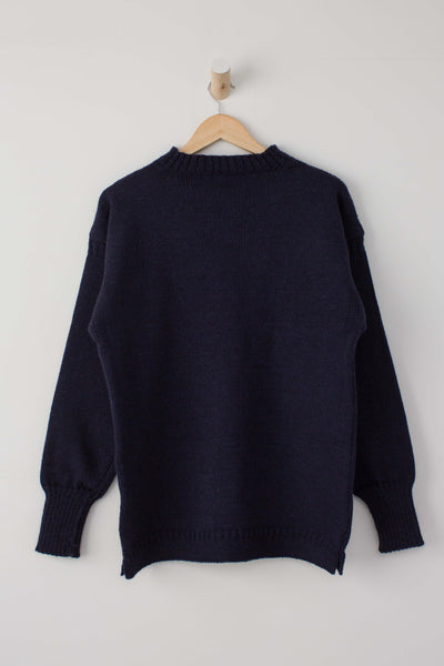 Kids Navy Blue Traditional Guernsey Jumper