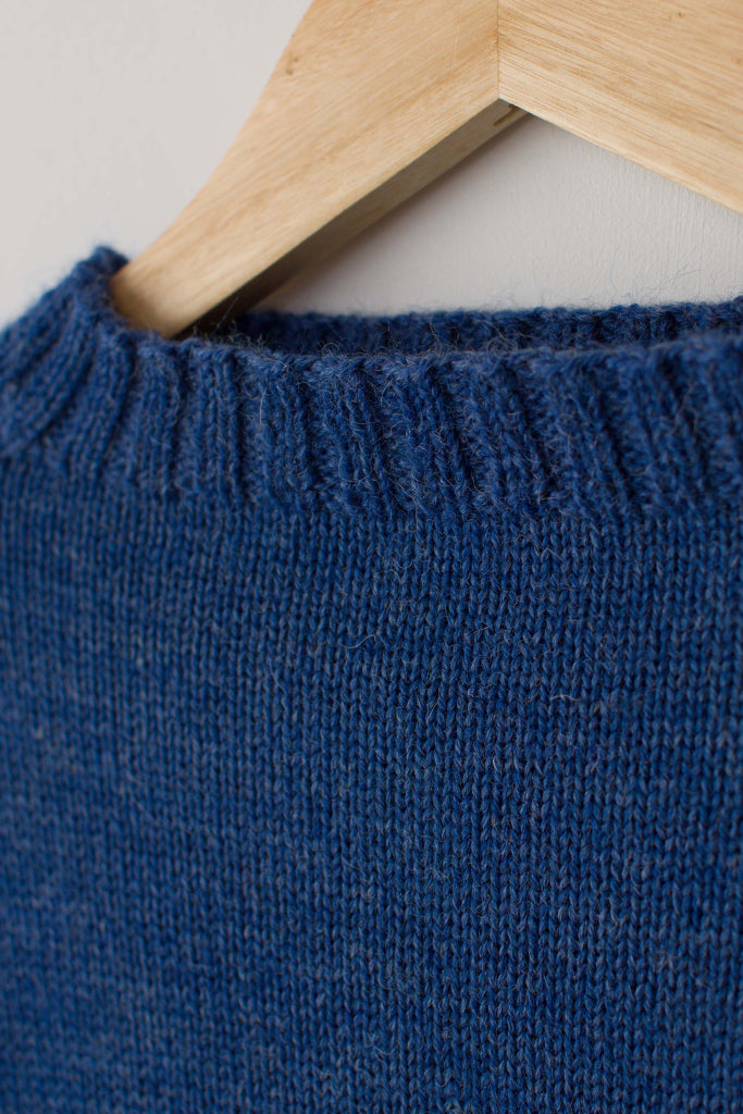Kids Indigo Blue Traditional Guernsey Jumper