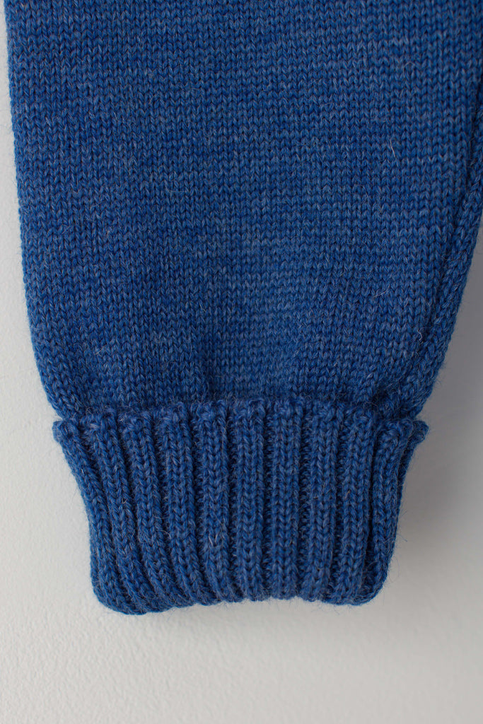 Women's Indigo Blue Traditional Guernsey Jumper
