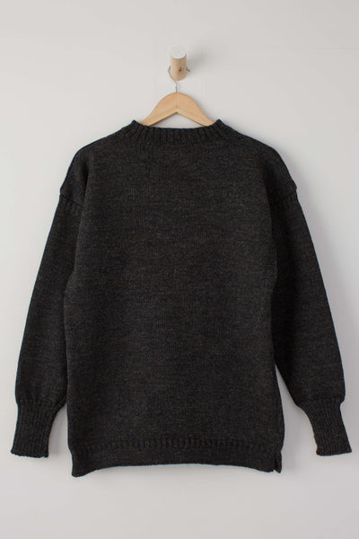 Men's Dark Grey Traditional Guernsey Jumper
