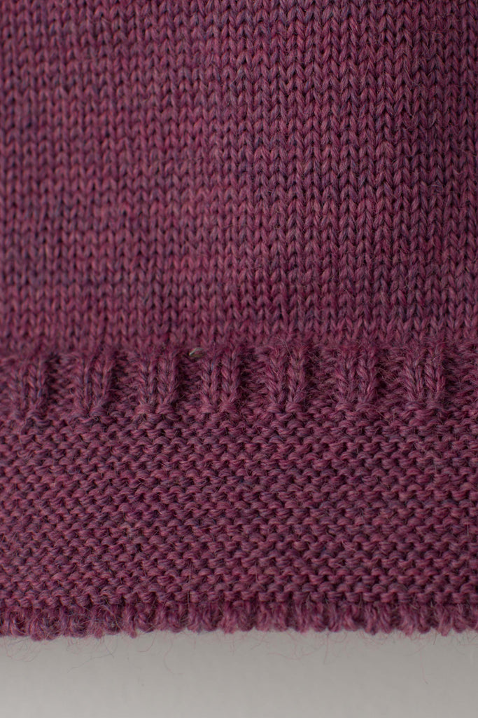 Women's Lupin Pink Traditional Guernsey Jumper