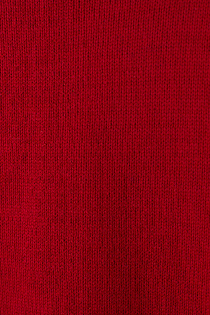 Men's Tartan Red Traditional Guernsey Jumper