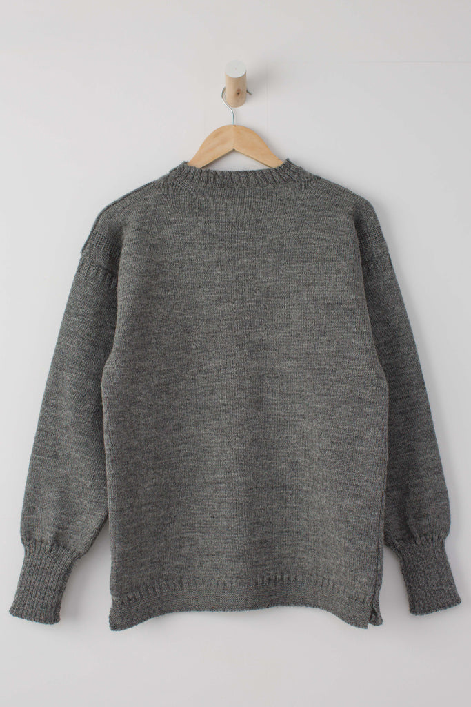 Kids Mid Grey Traditional Guernsey Jumper