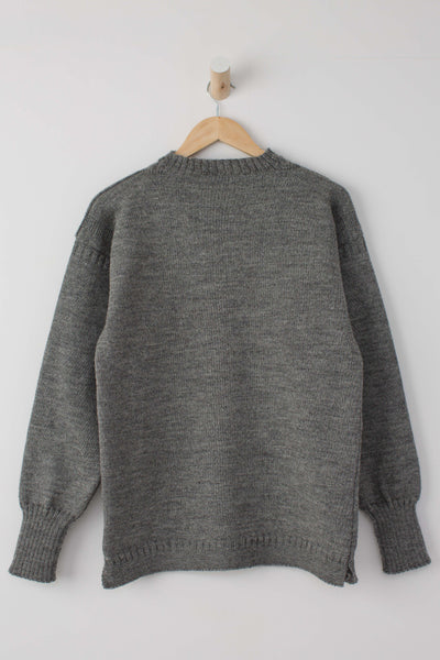 Men's Mid Grey Traditional Guernsey Jumper