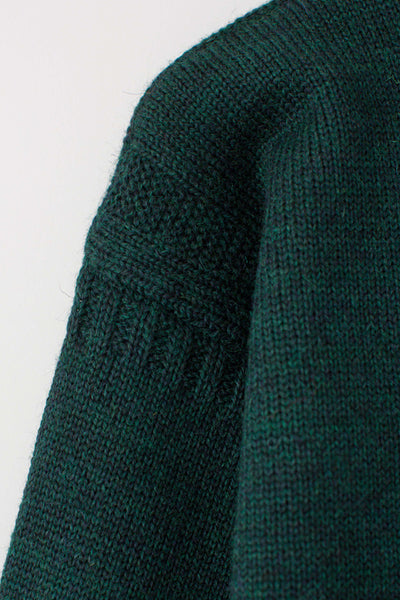 Men's Dark Green Traditional Guernsey Jumper