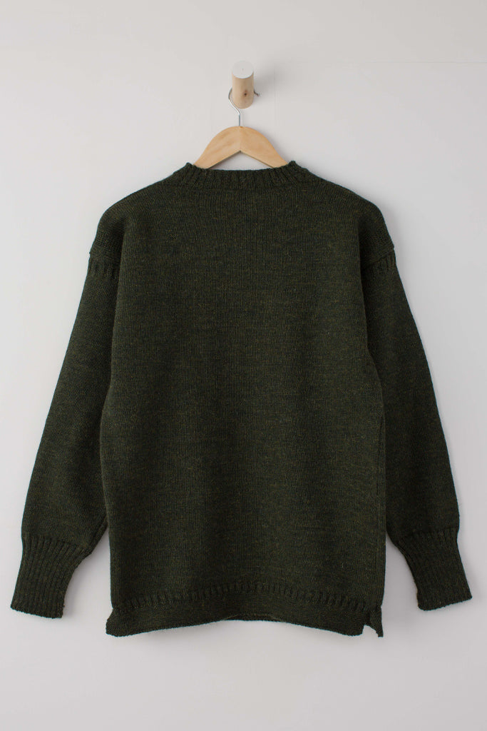 Women's Military Green Traditional Guernsey Jumper