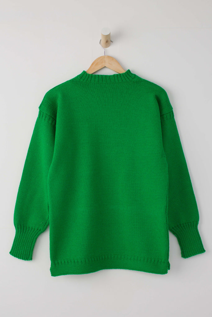 Women's Kelly Green Traditional Guernsey Jumper