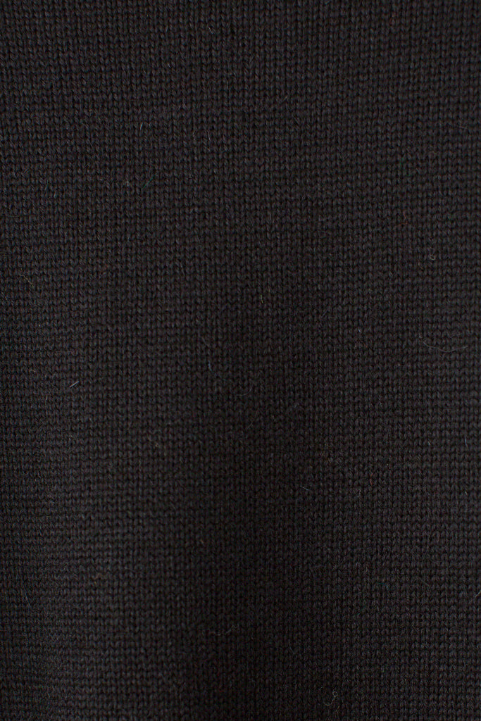 Men's Black Traditional Guernsey Jumper