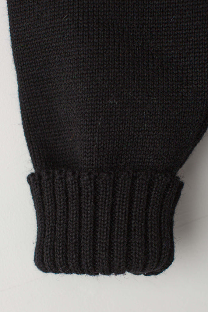 Women's Black Traditional Guernsey Jumper
