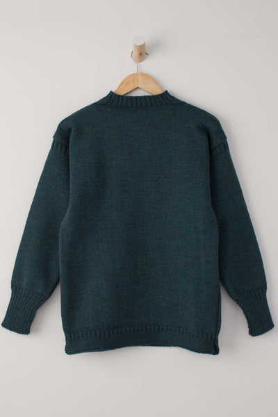 Men's Mallard Green Traditional Guernsey Jumper