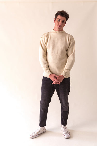 Men's Aran Traditional Guernsey Jumper