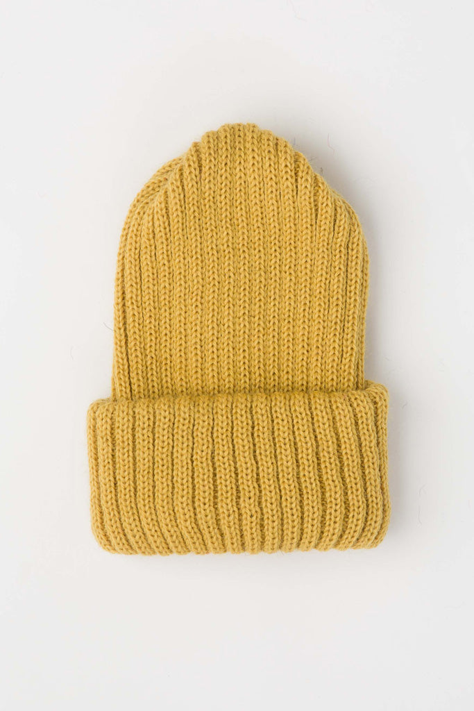 Mustard Yellow Knitted Beanie