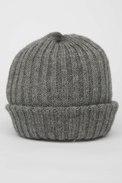 Mid Grey Knitted Beanie