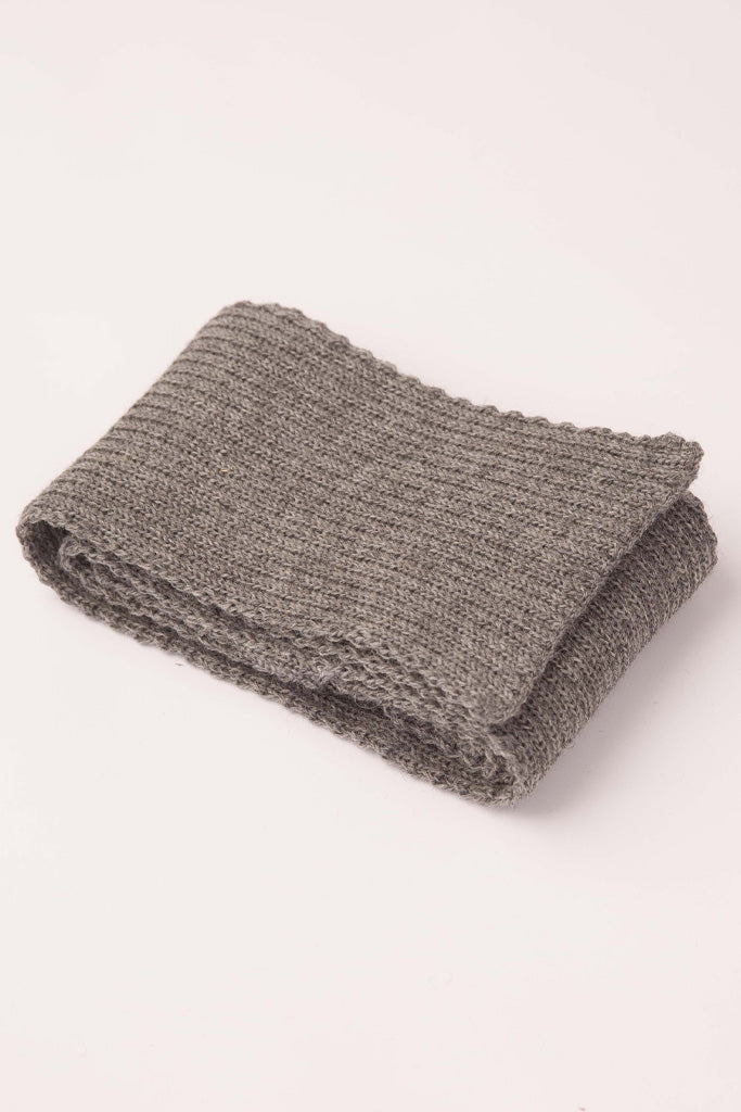 Mid Grey Knitted Scarf