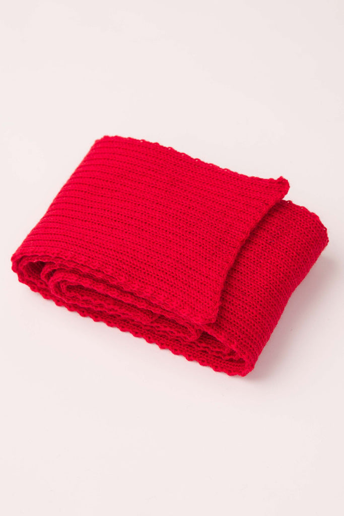 Red Knitted Scarf