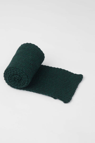 Dark Green Knitted Scarf