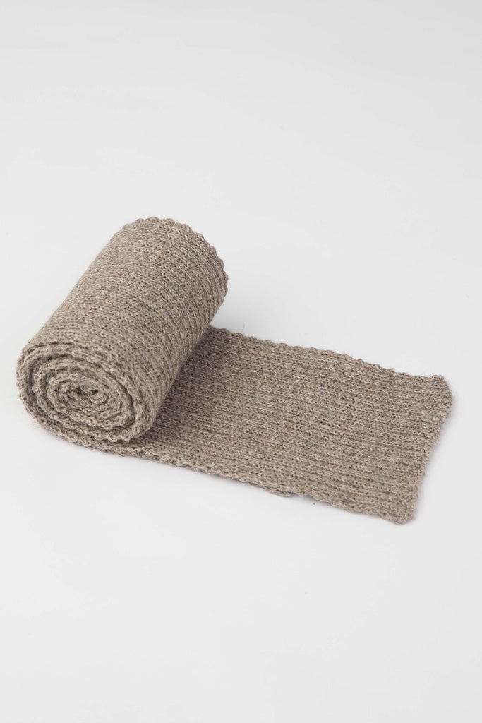 Oatmeal Knitted Scarf