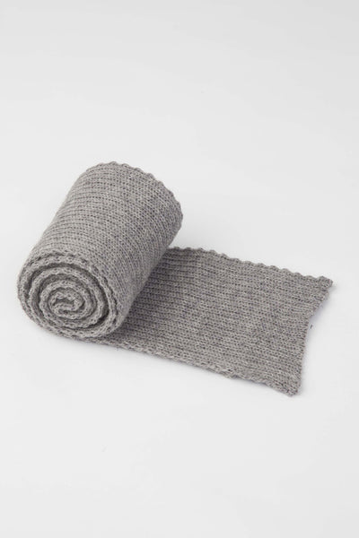 Light Grey Knitted Scarf