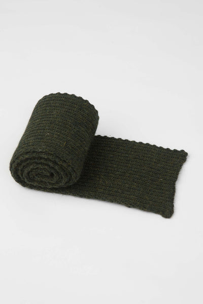 Military Green Knitted Scarf