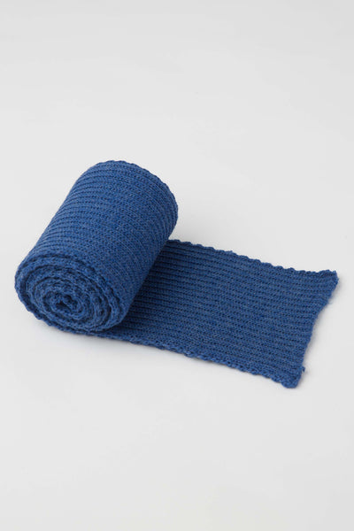 Indigo Blue Knitted Scarf