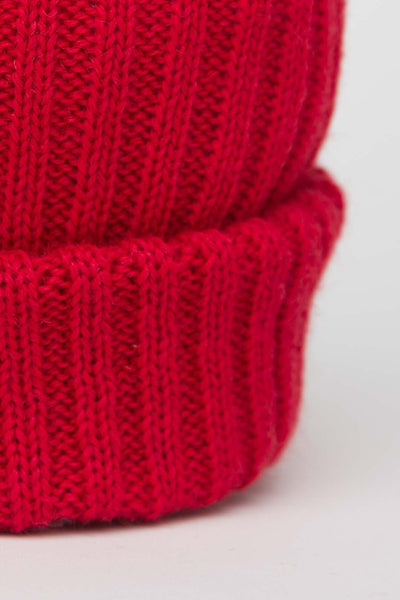 Tartan Red Knitted Beanie