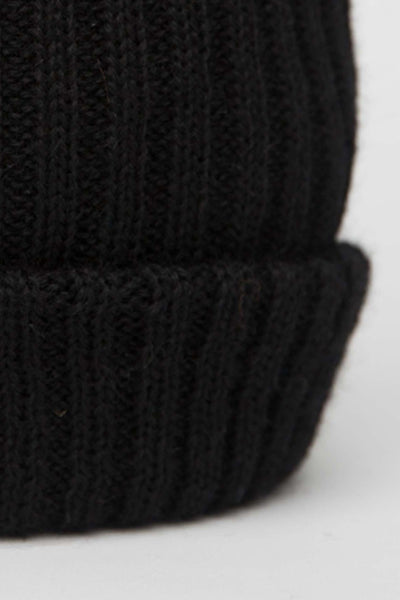 Black Knitted Beanie