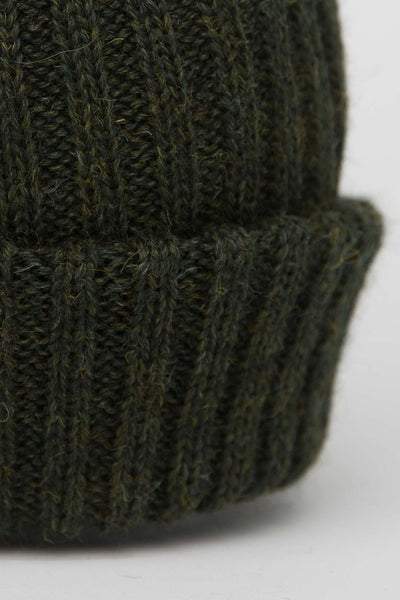 Loden Green Knitted Beanie
