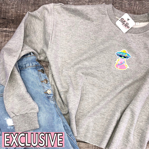 Beam Me Up Crop Sweat