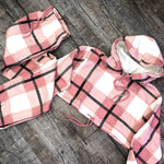 Checked Crop 2 Piece Lounge Set