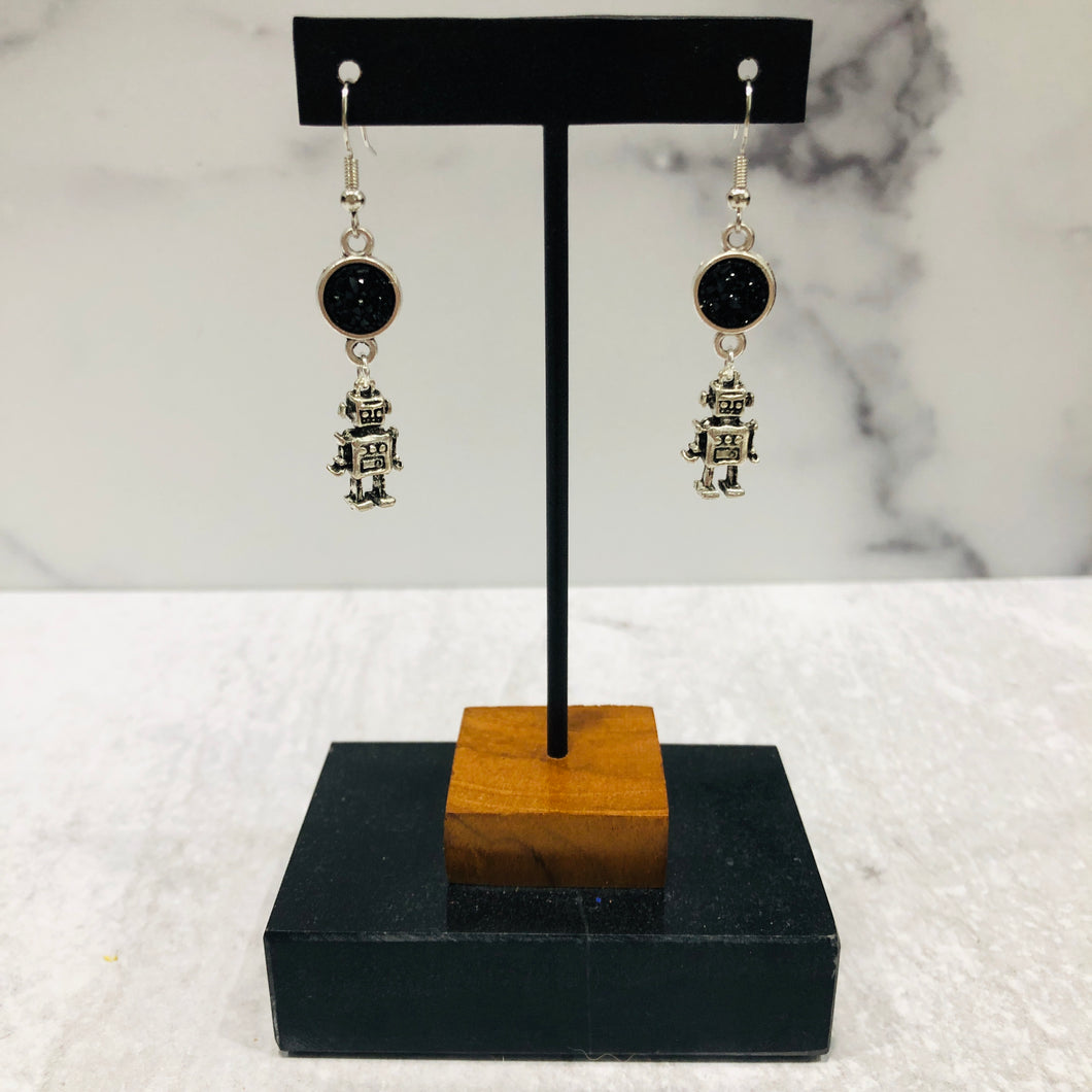 Vintage Robot Dangle Earrings