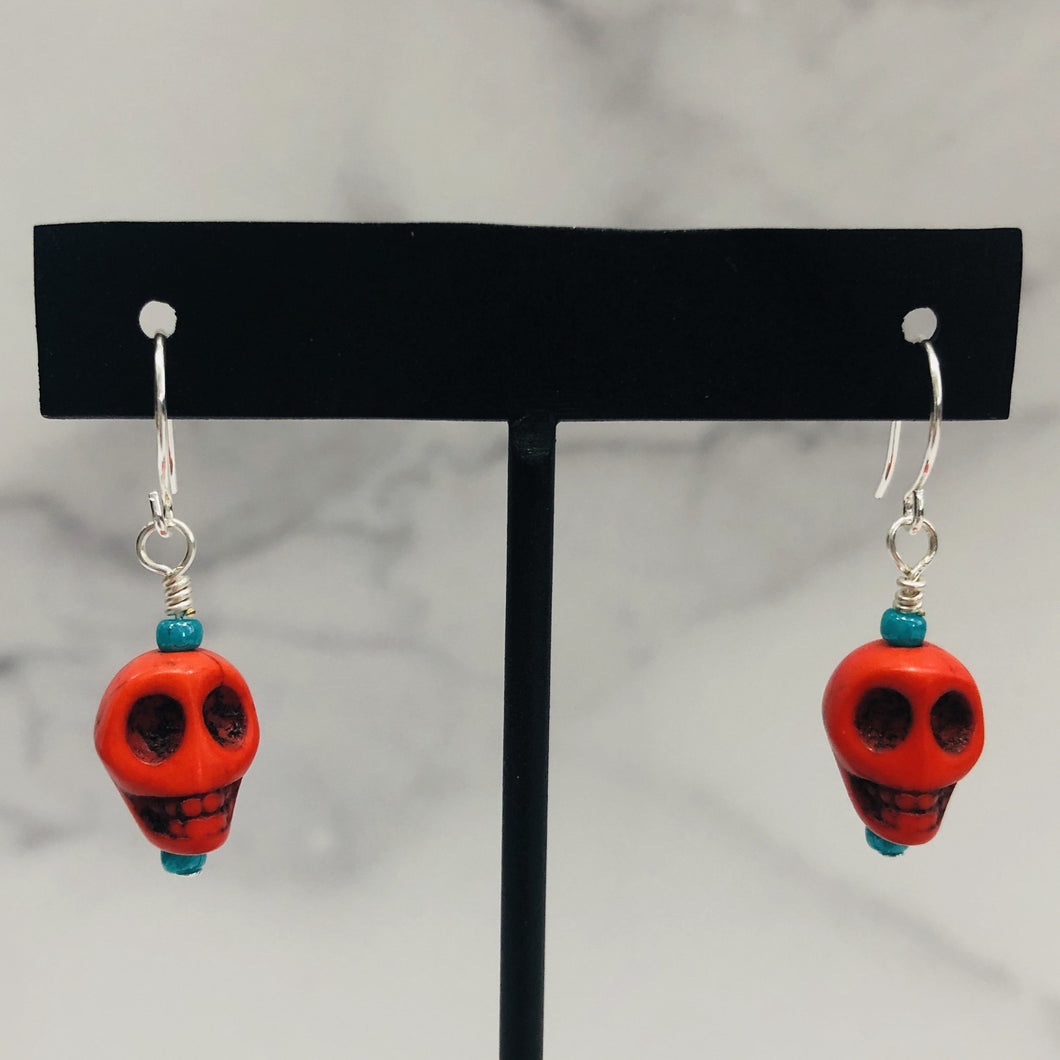 Handmade Colorful Skull Earrings - Bold & Bright Boutique