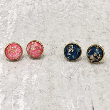 Load image into Gallery viewer, 12mm Gold Foil Resin Stud Earrings - Bold & Bright Boutique